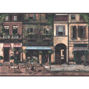 York Wallcoverings Vintage Paris Street Wallpaper