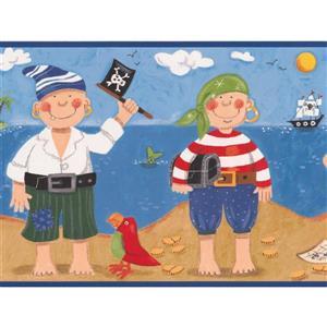 York Wallcoverings Kids Pirates and Sailboats Wallpaper Border
