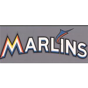 York Wallcoverings Miami Marlins MLB Baseball Wallpaper Border