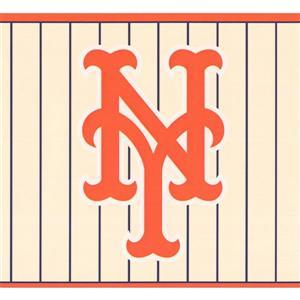 York Wallcoverings New York Mets MLB Baseball Wallpaper Border