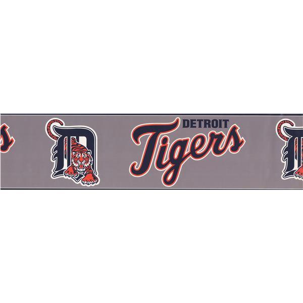York Wallcoverings Detroit Tigers MLB Baseball Wallpaper Border