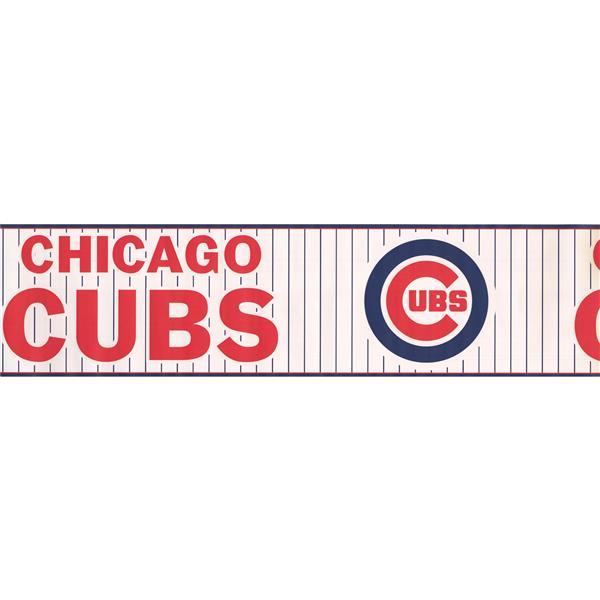 York Wallcoverings Chicago Cubs MLB Baseball Wallpaper Border