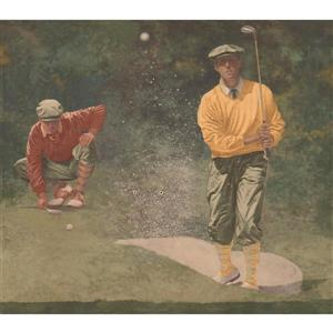 York Wallcoverings Vintage Golf Wallpaper Border - Green