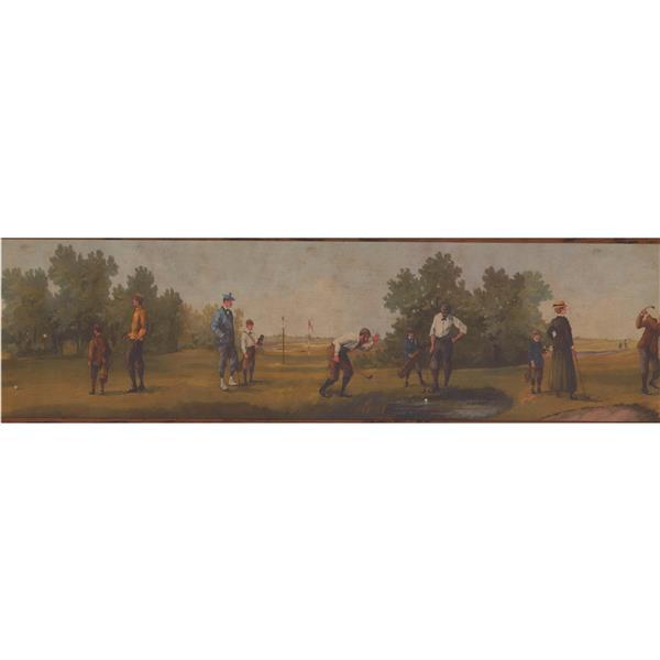 Chesapeake Vintage Golf Wallpaper Border