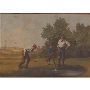 Chesapeake Vintage Golf Wallpaper Border