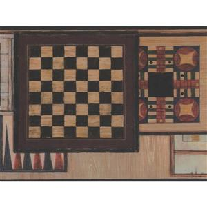 Retro Art Vintage Chess Table Wallpaper Border