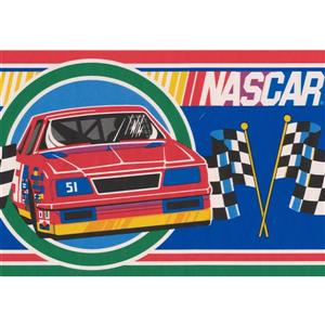Retro Art NASCAR Retro Wallpaper Border