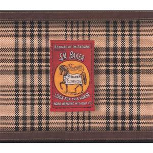 Vintage Striped Blanket Wallpaper Border - Brown