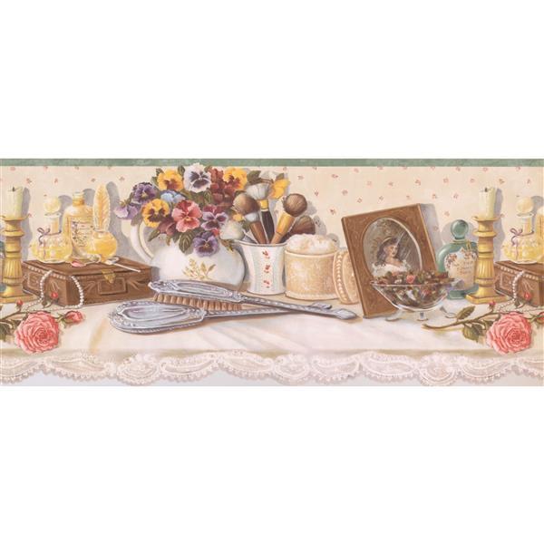 Retro Art Vintage Women's Makeup Table Wallpaper