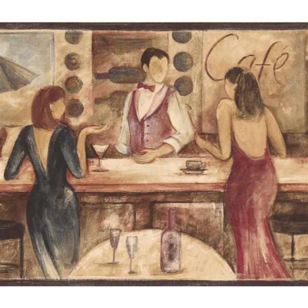Retro Art Bar and Cocktail Dresses Wallpaper Border