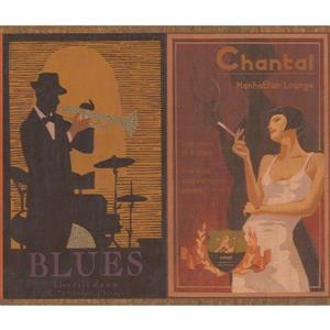 Retro Art Posters Wallpaper Border