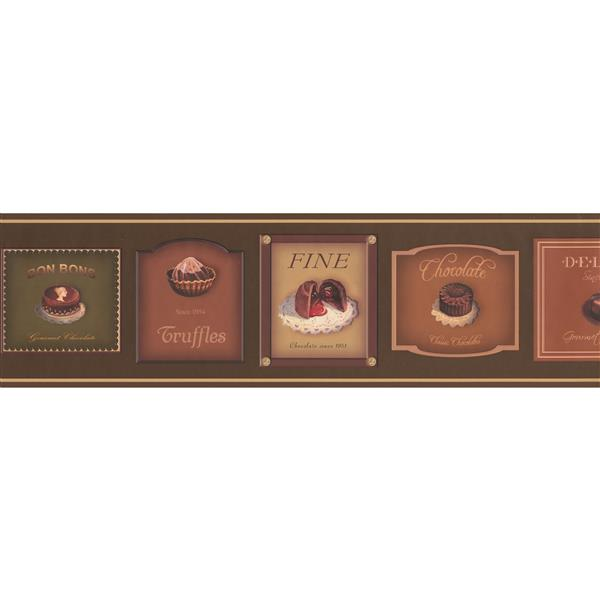 Retro Art Chocolate Boxes Wallpaper Border