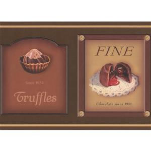 Retro Art Chocolate Boxes Wallpaper Border