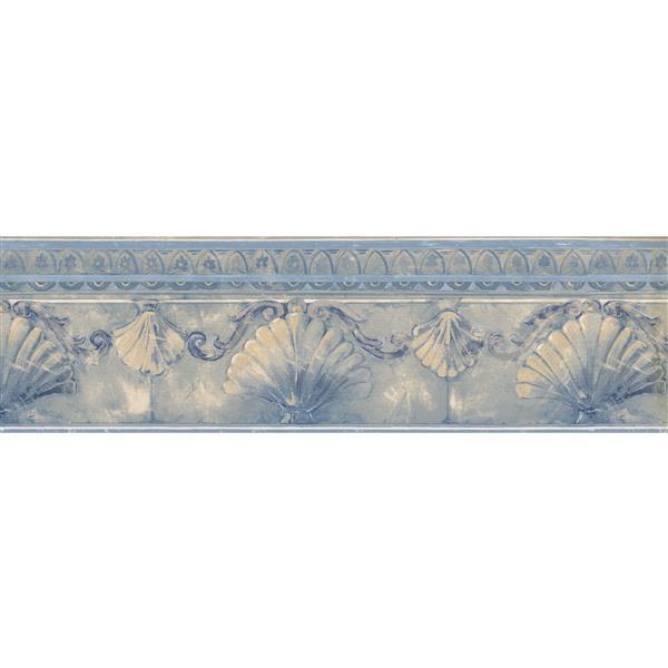 Norwall Abstract Seashells Wallpaper - Blue