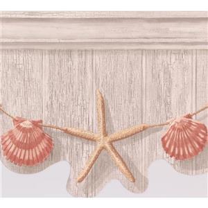 York Wallcoverings Starfish and Seashell Wallpaper - Beige/Grey
