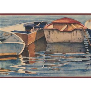 Vintage Row Boats Wallpaper Border