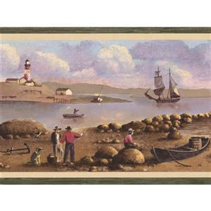 Chesapeake Sailboats and Sailors Nautical Wallpaper