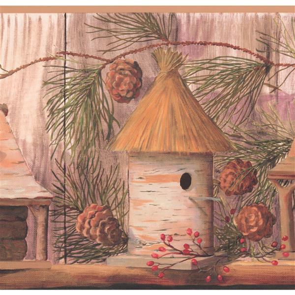 York Wallcoverings Birdhouses Wallpaper Border
