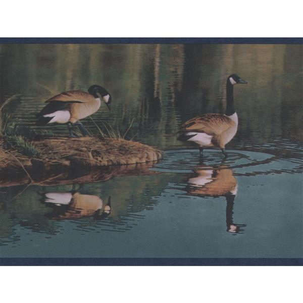 Retro Art Ducks in the Lake Wallpaper Border Roll - 15'
