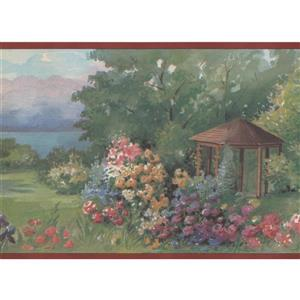 Retro Art Countryside Vintage Wallpaper Border