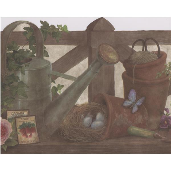 Retro Art Farmhouse Wallpaper Border Rona