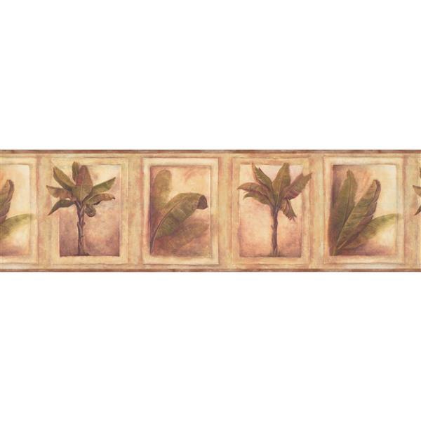 Chesapeake Palm Trees Wallpaper Border - Green