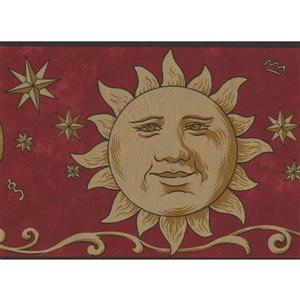 Norwall Smiling Sun and Moon Wallpaper Border - Yellow
