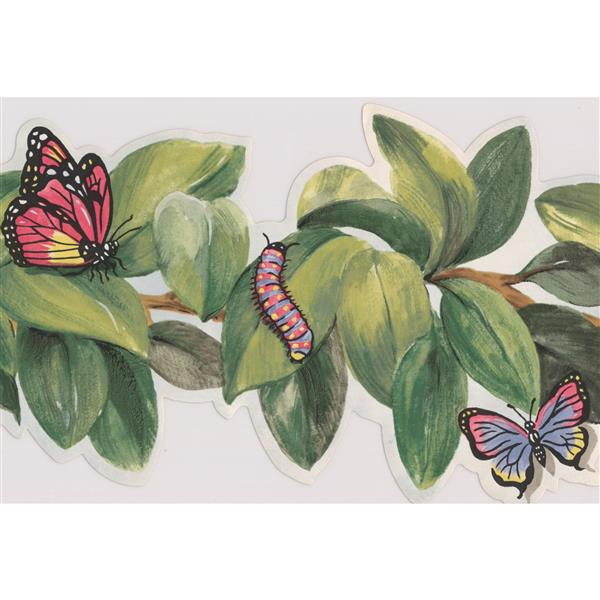 York Wallcoverings Insects on Leaves Wallpaper Border