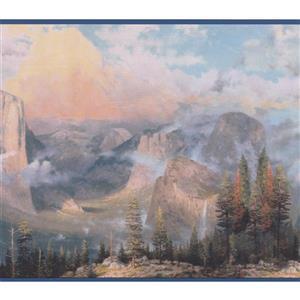 Retro Art Mountain Peaks Nature Wallpaper