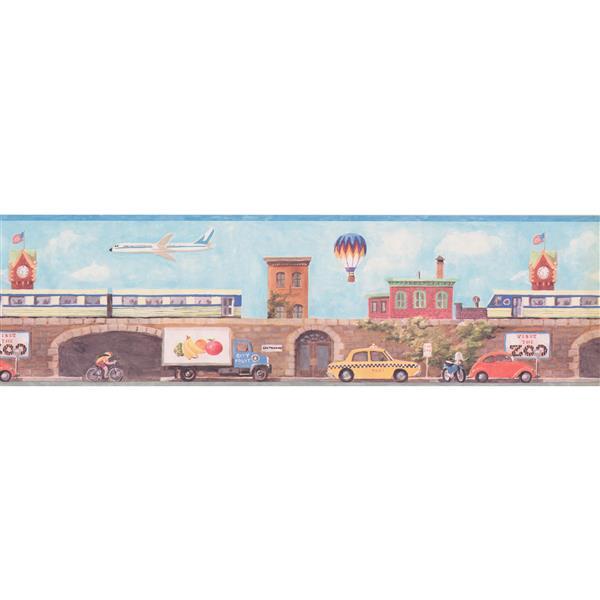 York Wallcoverings City Street Wallpaper Border