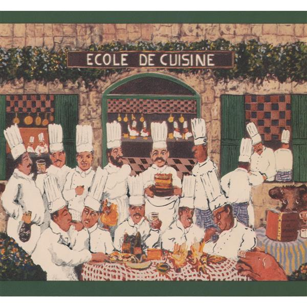 York Wallcoverings French Cooking Academy Retro Wallpaper Border