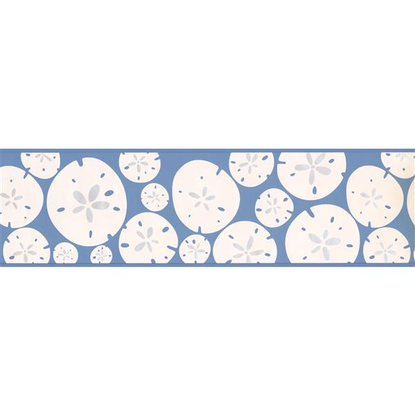 York Wallcoverings Abstract Geometric Shapes Wallpaper Border - White/Blue