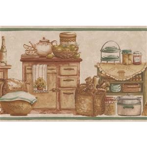 Kitchen Chests and Food Jars Wallpaper Border