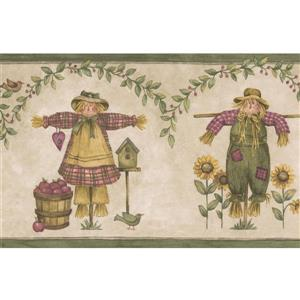 Norwall Scarecrows and Sunflowers Wallpaper Border