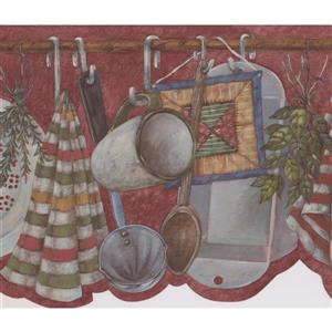 Retro Art Kitchen Utensils Wallpaper Border