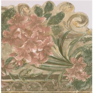Retro Art Vintage Floral Wallpaper Border