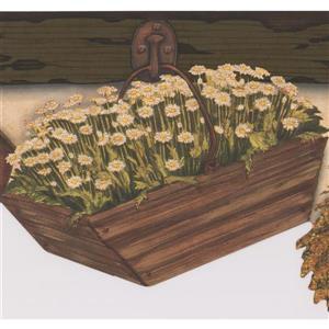 Chesapeake Hanging Flower Baskets Wallpaper - White