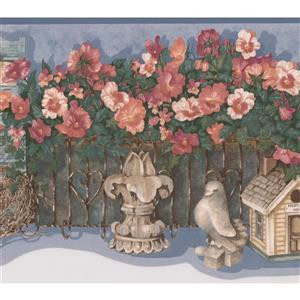 Flower Garden Farmhouse Wallpaper Border
