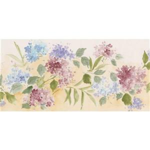 Norwall Floral Wallpaper Border Roll - Pink/Blue