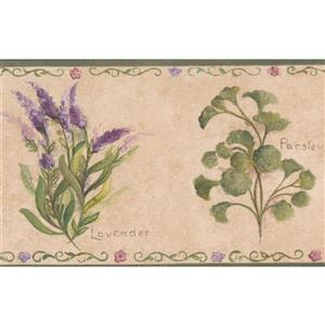 Norwall Spice Plants Kitchen Wallpaper Border - Beige