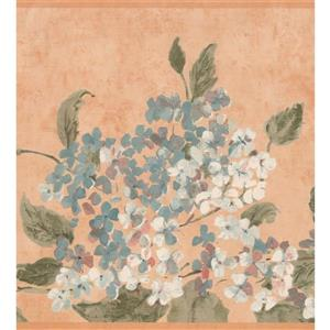 York Wallcoverings Floral Wallpaper Border - White/Blue