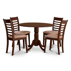 East West Furniture Dublin Dining set - Wood - Red - 5 Pieces