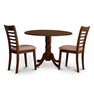 East West Furniture Dublin Dining set - Wood - Red - 3 Pieces