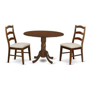 Dublin Dining set - Wood - Brown - 3 Pieces