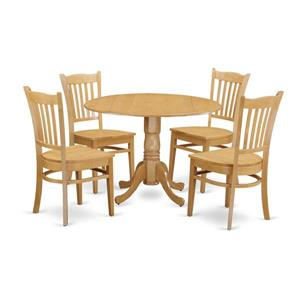 Dublin Dining set - Wood - Oak - 5 Pieces
