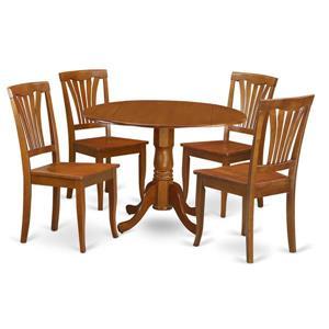 Dublin Dining set - Wood - Brown - 5 Pieces