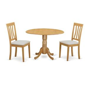 East West Furniture Dublin Dining set - Wood - Oak - 3 Pieces