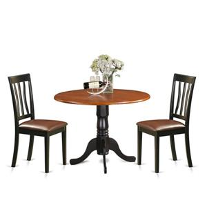 East West Furniture Dublin Dining set - Wood - Brown - 3 Pieces