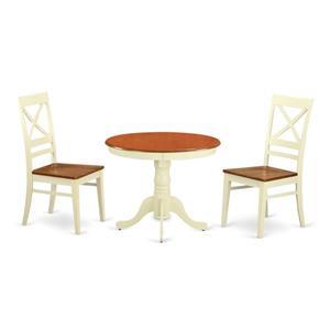 Antique Dining set - Wood - White/Cherry- 3 Pieces