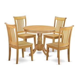 Antique Dining set - Wood - Oak - 5 Pieces